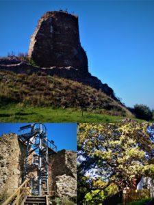 Hrad Lichnice a jeho rozhledna, opodál je také Žižkův dub.